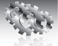 Gears design over gray background  illustration Royalty Free Stock Images