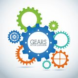 Gears design. Over gray background vector illustration stock illustration