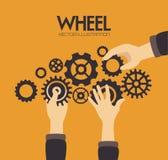 Gears design. Over orange background vector illustration Royalty Free Stock Images