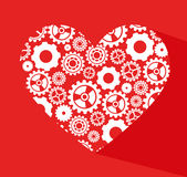 Gears design. Over red background vector illustration Stock Photos