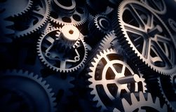 Gears detail. 3d illustration concept Stock Photos