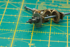 Gears. On the drawing mat Royalty Free Stock Images