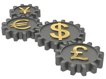 Gears of the economy Royalty Free Stock Images