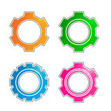 Gears elements set Royalty Free Stock Photography