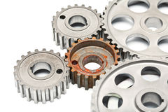 Gears engagement rusty part Royalty Free Stock Photo