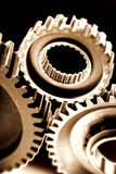 Gears in engine Royalty Free Stock Photo