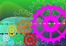 Gears engineering technology Royalty Free Stock Photos