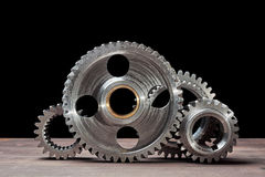 Gears exposed in a row Royalty Free Stock Photos