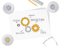 Gears in form of ideas for business Royalty Free Stock Images