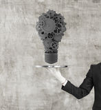 Gears in form light bulb Royalty Free Stock Photos
