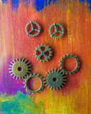 Gears forming smiling face Stock Photo