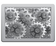Gears in the frame Royalty Free Stock Image