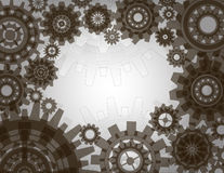 Gears frame. Illustration of a frame with gears. Vector Stock Images