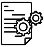 gears, gear wheel, Line Isolated Vector Icon That can be easily modified or edit stock illustration