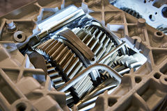 Gears of gearbox. In section Stock Image