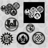 Gears and geology Royalty Free Stock Photography