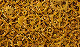 Gears Gold Background Design Royalty Free Stock Image