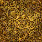 Gears Gold Background Pattern Royalty Free Stock Images