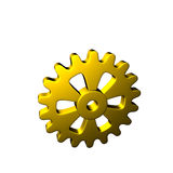Gears - Gold - Isolated Royalty Free Stock Images
