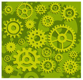 Gears in green Royalty Free Stock Images