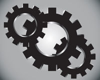Gears on a grey background Royalty Free Stock Images