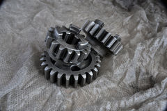 Gears on grey Stock Photo