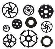 Gears. Group of gears in black and white Royalty Free Stock Images