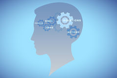 Gears head background concept royalty free stock photo