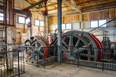 Gears in the Hoist House Royalty Free Stock Image