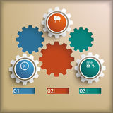 Gears Holes PiAd. Infographic design on the grey background. Eps 10  file Stock Photo