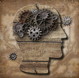 Gears in human brain metaphor Stock Photos
