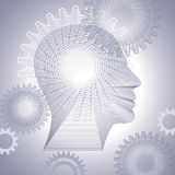 Gears and human head Royalty Free Stock Photo