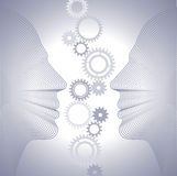 Gears and human head Royalty Free Stock Photos