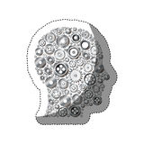 Gears and human head design Stock Photos