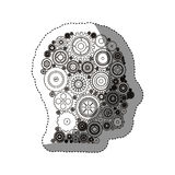 Gears and human head design Royalty Free Stock Images