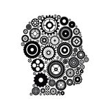 Gears and human head design Stock Photography
