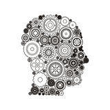 Gears and human head design Royalty Free Stock Photo