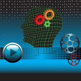 Gears of the human mind Stock Images
