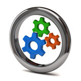 Gears icon Royalty Free Stock Photos
