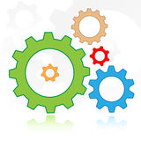 Gears icon Stock Image