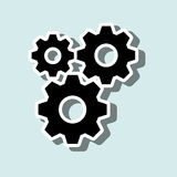 Gears icon design. Illustration eps10 graphic Stock Photos