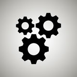 Gears icon design Stock Images