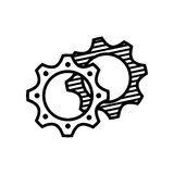 Gears icon design Royalty Free Stock Images