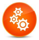 Gears icon elegant orange round button Stock Photography