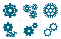 Gears icon set Stock Image