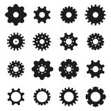 Gears Icon Set Royalty Free Stock Images
