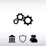 Gears icon, vector illustration. Flat design style Royalty Free Stock Photo