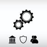 Gears icon, vector illustration. Flat design style stock image