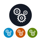 Gears icon, vector illustration Royalty Free Stock Photos