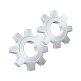 Gears icon. Royalty Free Stock Photo
